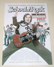 """THE SCHOOL OF ROCK PP SIGNED 12""""X8"""" POSTER JACK BLACK"""