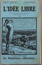 L'Idée Libre n°7 5eme série - 1924 - Le sophisme d'Einstein -  régime bolchevist