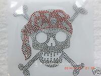 Hotfix  Strass Bügelbild kleiner Totenkopf Skull Farbwahl 110205 Karostonebox