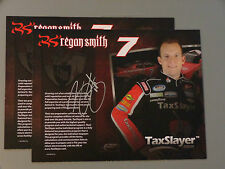 2013 Signed Regan Smith Hero Card Dual Sided W/ Dale Jr post card autograph COA
