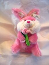 Pink White Plush Easter Bunny Rabbit Decoration Spring