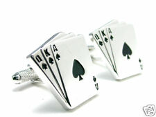 """3 Card Poker"" Royal Flush Cuff Links cufflinks #C-132"