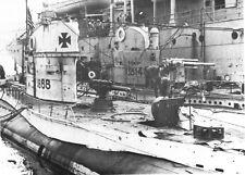 B&W WWII German Photo U-Boats Tied to Tender  WW2 U-14 World War Two / 0842904