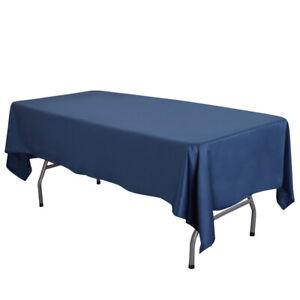 "58""x102"" / 58""x126"" Lamour Satin Rectangular Seamless Tablecloth For Party"