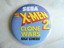 Vintage Marvel Comics X-Men 2 Clone Wars Sega Genesis Game Advertising Pinback