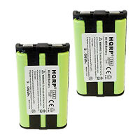 2x HQRP Battery for Panasonic KX-TG2357B KX-TG2357S KX-TG2386B KX-TG2388B Phone
