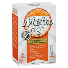 Meta Align Daily IBS Probiotic Supplement 42 Capsules Digestive Health Relief