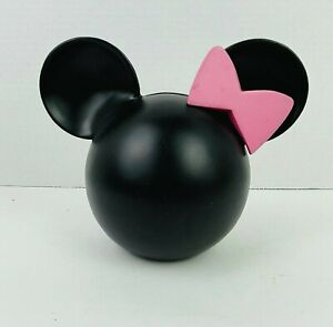 Unique Kerson Disney Minnie Mouse Head with Bow Piggy Bank