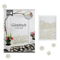 Gästebuch im Rahmen, 84 Kleeblätter zum Beschriften - Hochzeit Geburtstag Taufe