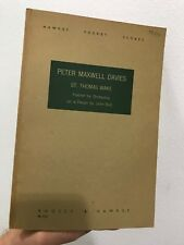 Peter Maxwell Davies St Thomas Wake John Bull Boosey & Hawkes Paperback