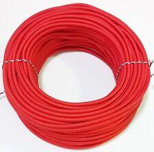 Cavo elettrico ricoperto in tessuto colorato rosso 3x0,75 1 metro