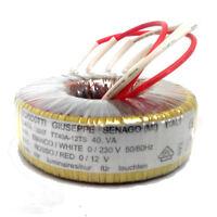 Trasformatore toroidale nucleo a basse perdite uso professionale 220V/12V 40VA