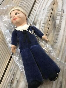"""Rare Norah Wellings Sailor doll 30's 40's  Made in England Vintage 8.25"""""""
