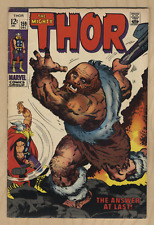 Thor #159 (1968) 6.0 FN Marvel Key Issue Silver Age Comic Origin Dr Blake Kirby