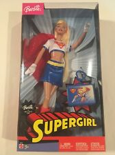 NEW IN BOX - SUPERGIRL BARBIE W/ KEYCHAIN MIB NRFB DC COMICS SUPERHERO