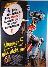 Nummer 5 gibt nicht auf SHORT CIRCUIT 2 - Filmplakat DIN A1 (gerollt)
