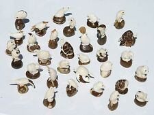 Lot 10 Animal Figurines Collectible Hand Carved Tagua Palm Nut Wholesale Crafts
