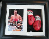 Tyson Fury Mini Signed Boxing Gloves Framed