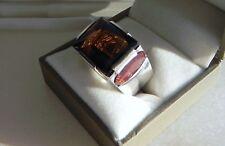 Unique! 21g Daniel Swarovski Paris 925 sterling silver gem ring size O (7 or 55)