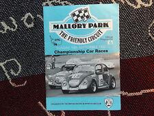 1992 MALLORY PARK PROGRAMME 13/9/92 - BRSCC CAR RACES - VW BEETLE COVER