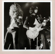 LED ZEPPELIN POSTER PAGE . 1972 SHEFFIELD CONCERT JIMMY PAGE & ROBERT PLANT .H36