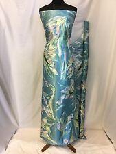 "NEW Designer Silky Soft Poly Satin Floral Leaf Print Fabric 57"" 146cm Dress Art"