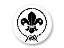 Pin Button Badge Ø38mm Logo Scout Scoutisme Baden Powell