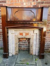 More details for 1930's art deco mahogany fireplace and surround pink tiles great condition...