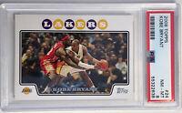 PSA 8 🔥 2008-09 Topps #24 Kobe Bryant w/ LeBron James Los Angeles Lakers