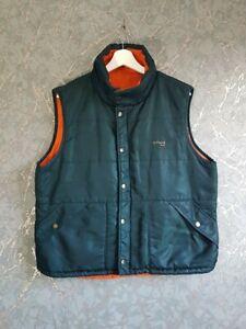 Vintage Schott NYC Reversible Vest Gillet Body Warmer size M