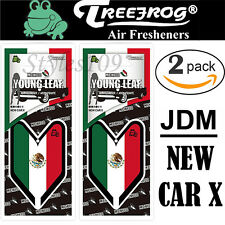 Treefrog Wakaba Young Leaf JDM Air Freshener Mexico Flag- New Car X Scent 2 PACK
