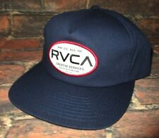 MENS RVCA SNAPBACK ADJUSTABLE NAVY BLUE HAT CAP ONE SIZE
