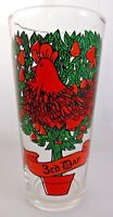 PEPSI Twelve Days of Christmas Tumbler Glass 3rd Day Three French Hens