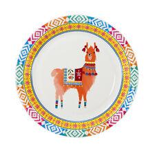 8 x Boho Llama Paper Party Plates 23 cm Mexican Fiesta Party Theme