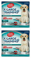 Simple Solution Training Pads for Dogs, Extra Large, 50 Count, 2 Pack (100 pads)