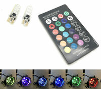 501 RGB Remote LED Interior Bulbs Light For Toyota Celica Corolla Verso Mr2