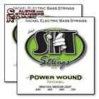 2 Sets! SIT Strings Power Wound NR45105L Medium Light Bass Strings .045-.105 for sale