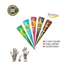 Henna Temporary Tattoo Ointment Waterproof Body Paint henna Art Cream Cone
