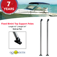 """Oceansouth Fixed Bimini Top Support Poles 42"""" Length fits 54"""" Height Frame"""