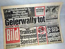 Bildzeitung vom 12.05.1990 * Geierwally zum 27. 28. 29. Geburtstag