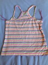 DUCK AND COVER PASTEL STRIPE VEST TOP. SIZE S APPROX 8-10 NWOT