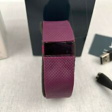 Fitbit Charge HR Activity Tracker Smart Band Watch Plum Purple Heart Rate Small