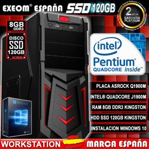 Ordenador Gaming Pc Intel 4xCores 9,6GHz 8GB 120GB SSD HDMI De Sobremesa Windows