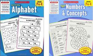 Scholastic School Success with Alphabet, Numbers & Concepts Preschool-K (Paper
