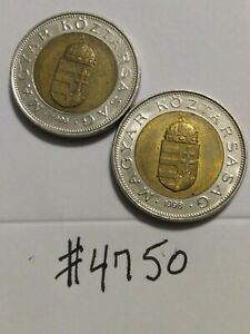 🇭🇺🇭🇺 1996 & 1998 Hungary 100 Forint Coins 🇭🇺🇭🇺