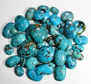 American Turquoise Pear Cabochon Loose Gemstone Turquoise Gemstone lot Natural Turquoise Smooth Cabochon 12x9-15x9 mm 5 Ps. 13 Cts