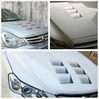 Car 1pc 3D Fake Vents Decorative Outlet Side Hood Air Flow Vents Pattern Sticker