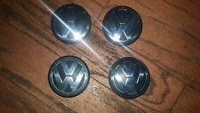 4 pcs.Vw Volkswagen Black Wheel Center Hub Caps Chrome 3B7601171Xrw