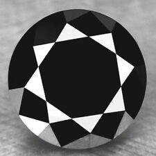 5.02 carat huge natural loose black diamond round brilliant cut buy online