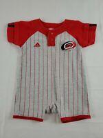 Carolina Hurricanes NHL Baby 12 Mo  Coverall Top / Shorts Logos Gray RED Stripe